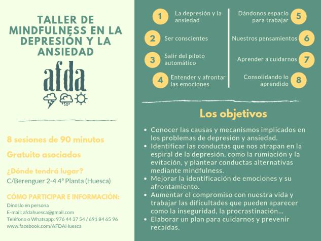 Cartel Taller de mindfulness Ansiedad y Depresión (1)